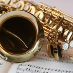 Play saxophone with a praise and worship team